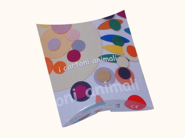 scatola kit creativo colori forti
